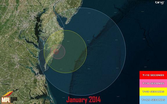 Сегодня с побережья Вирджинии состоится запуск трех военных ракет