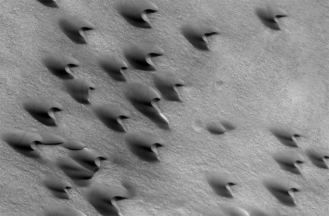 Песчаные дюны могут рассказать об инопланетных ветрах