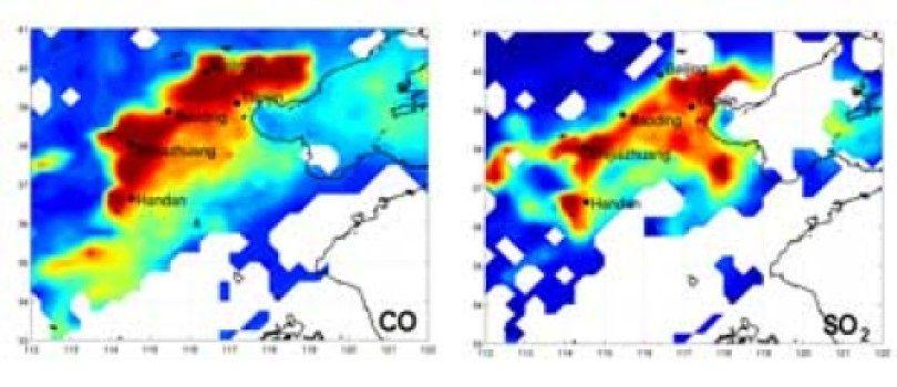 Инфракрасный зонд смог определить уровень загрязнения атмосферы из космоса