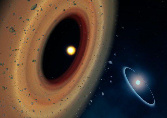 Третья звезда в системе Фомальгаут тоже имеет диск