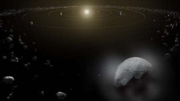 Обсерватория Herschel обнаружила водный пар на Церере