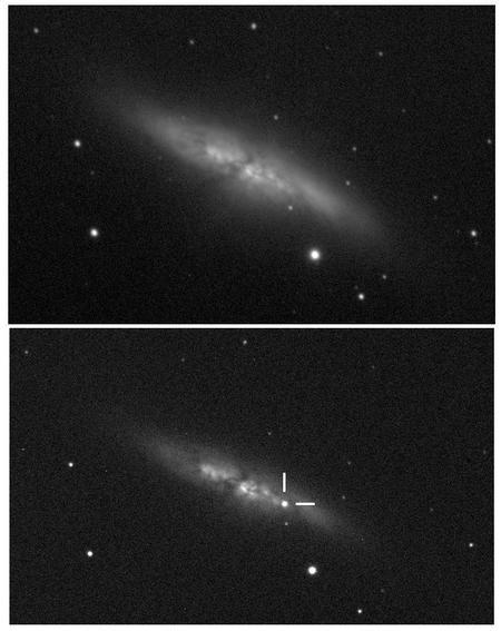 Сверхновая в галактике М82 была открыта благодаря облачной погоде
