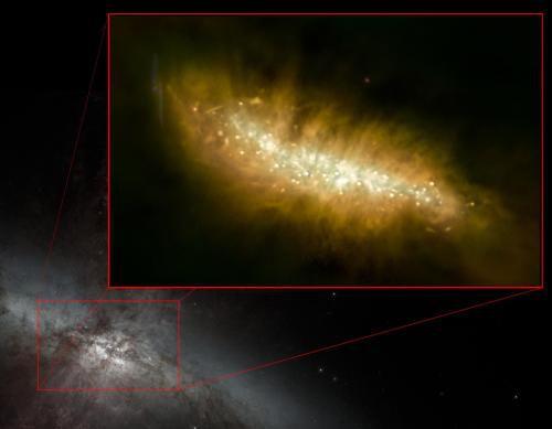 Звездообразование в галактике М82