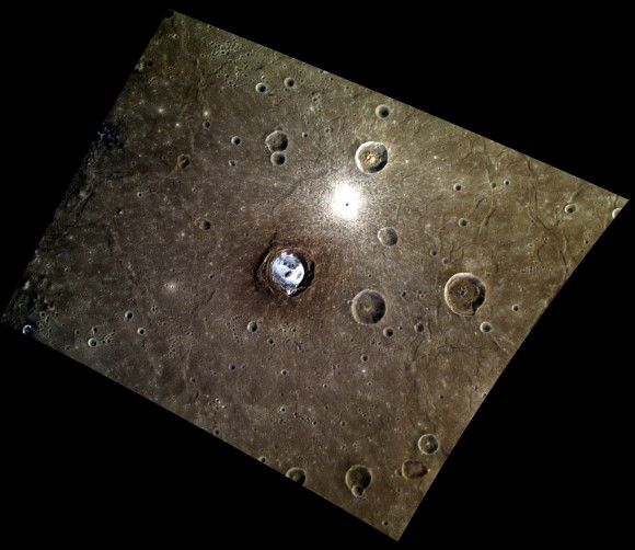 Что находится на дне кратеров Меркурия?