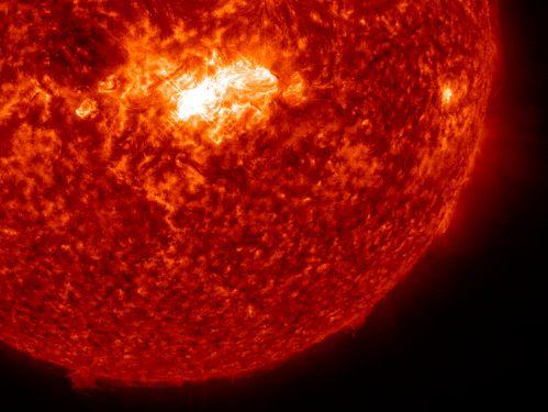 На Солнце произошла очередная вспышка средней силы