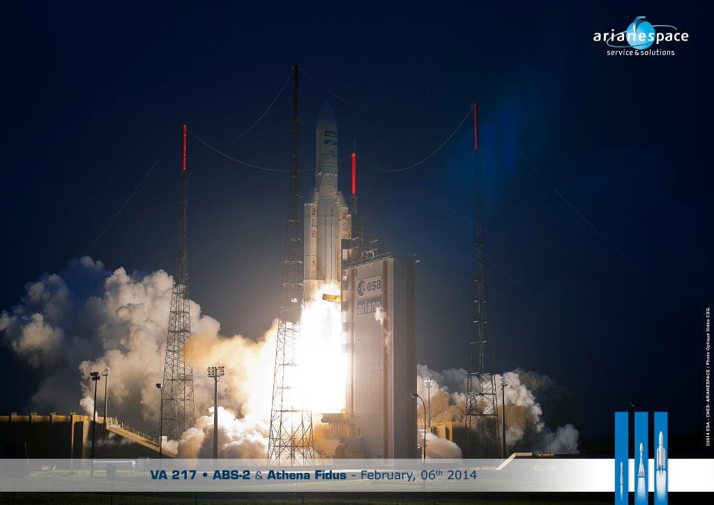 Состоялся 250-й по счету запуск ракеты Arian 5