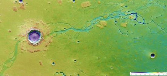 Громадные кратеры на снимке Mars Express