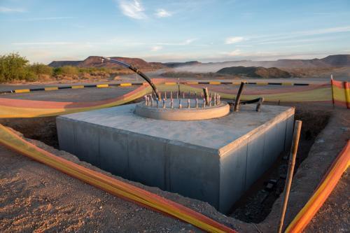 Закончено строительство основания для телескопа MeerKAT
