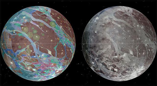 Ученые составили подробную карту спутника Юпитера - Ганимеда