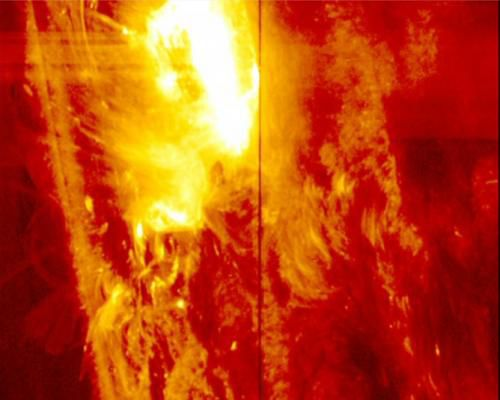 IRIS вглядывается в сердце солнечной вспышки