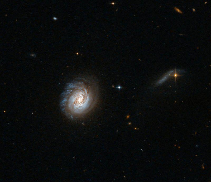 Новый снимок Hubble: Карликовая галактика MCG-03-04-014