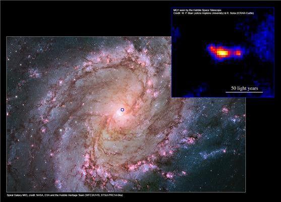 Ученые открыли новую мощную черную дыру небольшого размера