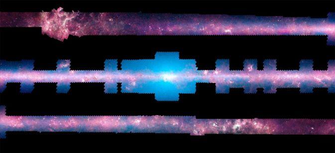 Ученые создали 360-градусную панораму Млечного Пути из снимков Spitzer