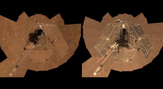 Марсоход Opportunity сделал автопортрет