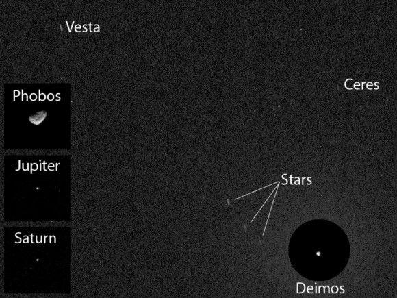 Curiosity сделал первые снимки астероидов с поверхности Марса