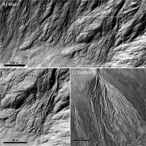 Ученые предполагают, что всего 200 000 лет назад на Марсе была вода