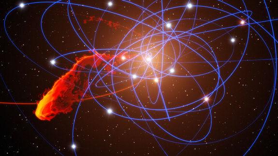 Продолжаются наблюдения за облаком G2, которое приближается к черной дыре Sgr A*