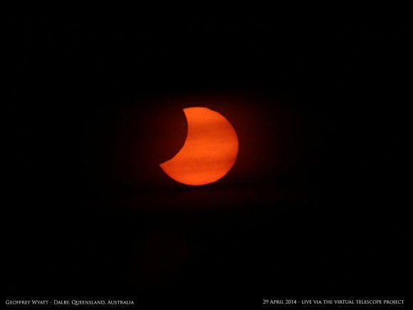 Солнечное затмение 28 апреля 2014 года с Земли и из космоса