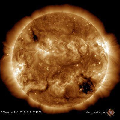 Обсерватория Солнечной Динамики обнаружила на Солнце квадратную дыру