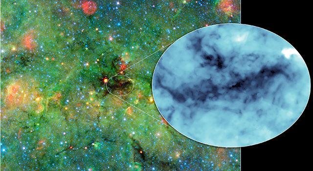 Астрономы исследуют тени, чтобы больше узнать об образовании звезд О-типа