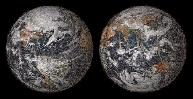 NASA опубликовало изображение GlobalSelfie, составленное из 36 000 снимков
