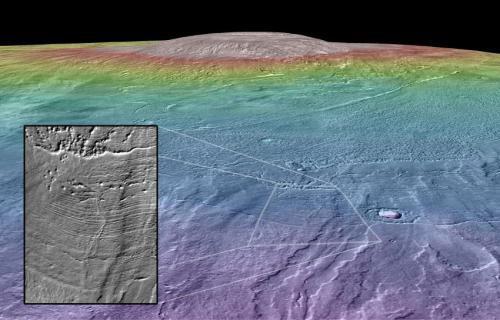 Окружение марсианского вулкана могло быть пригодным для жизни