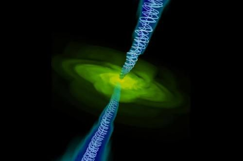 Сила магнитного поля черной дыры может