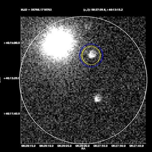 Гамма-всплеск достиг Земли через 12 миллиардов лет