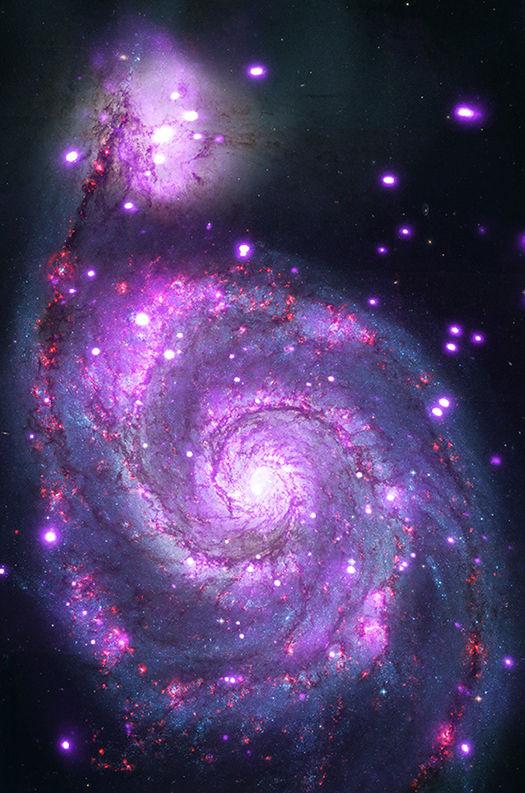 Удивительный рентген-снимок галактики Водоворот