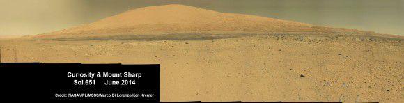 По пути к цели Curiosity удалось сделать новую удивительную панораму Горы Шарп