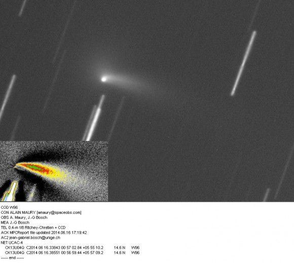 Астероид, который оказался кометой, становится ярче