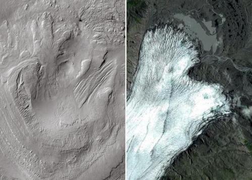 Curiosity путешествует по древним ледникам на Марсе