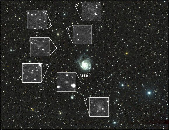 Новый телескоп помог обнаружить семь карликовых галактик вокруг галактики М101