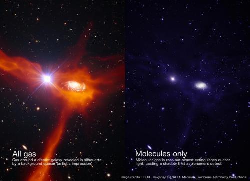 Ученые выяснили, что газ вокруг молодых галактик беден молекулами водорода
