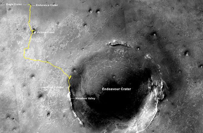 Очередной рекорд Солнечной Системы: марсоход Opportunity прошел 40 километров