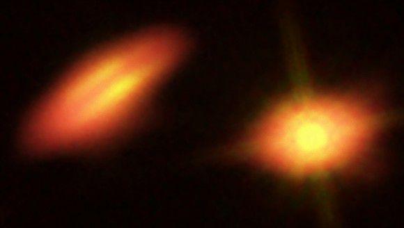 ALMA наблюдает за двойной системой со странными протопланетными дисками
