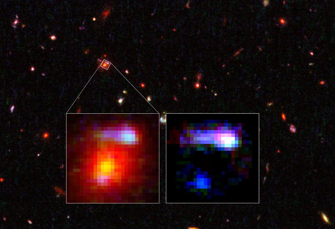 Hubble обнаружил наиболее удаленную галактику - гравитационную линзу