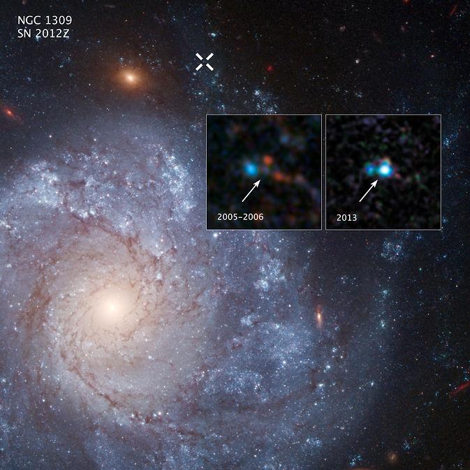 Hubble обнаружил систему сверхновой, которая могла оставить после себя