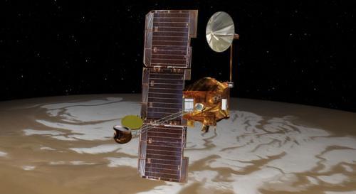 Mars Odissey завершил маневры по корректировке орбиты