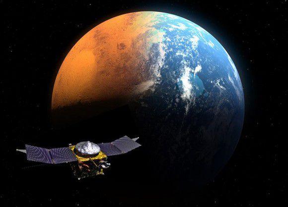Орбитальный аппарат MAVEN в трех неделях и 6 миллионах километрах от Марса