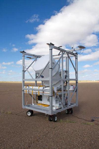 Воздушный шар готовится к измерению гамма-излучения от пульсара