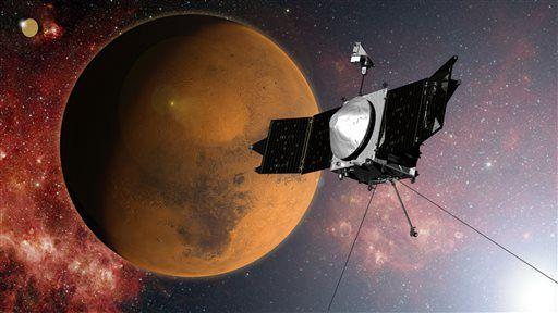 Спутник MAVEN успешно вышел на орбиту Марса