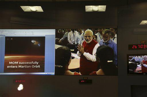 Индийский аппарат успешно вышел на орбиту Марса