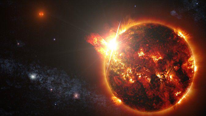 Спутник Swift зафиксировал серию вспышек от красного карлика