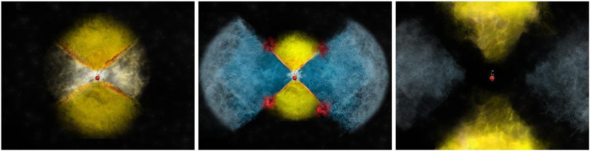 Радиотелескопы пролили свет на механизм испускания гамма-излучения новой звездой