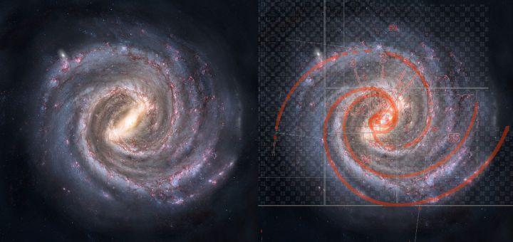 Опубликованы результаты исследования формы спиральных галактик