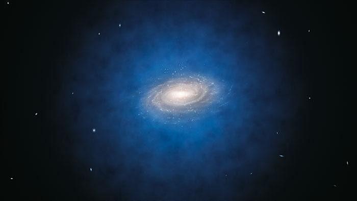 Проведены новые измерения массы темной материи Млечного Пути