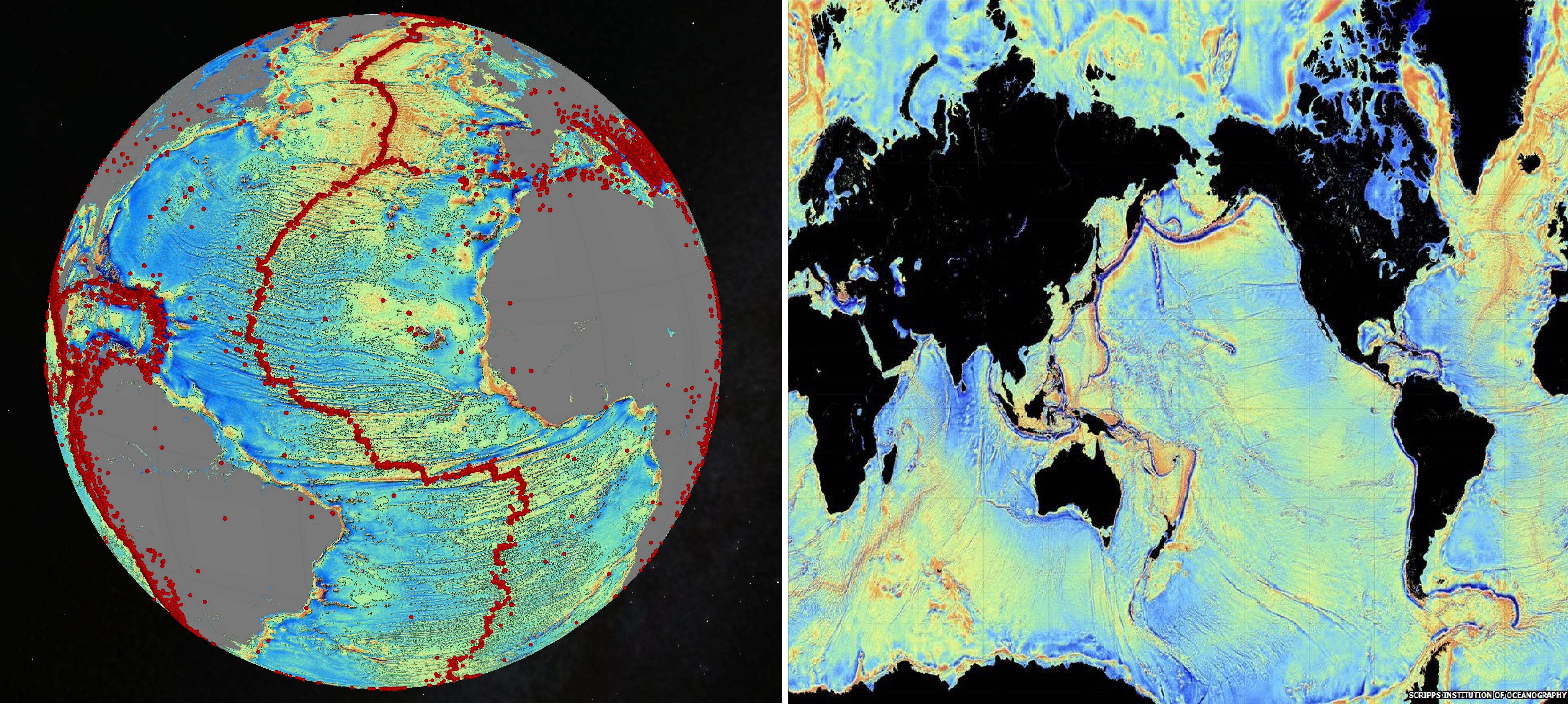 Новая карта океанского дна показывает неизведанные глубины