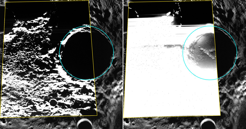Мессенджер передал первые изображения льдов вблизи северного полюса Меркурия