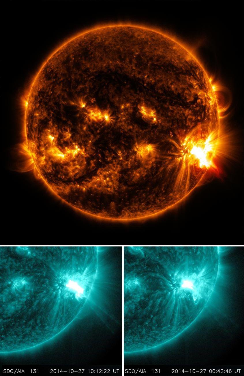 Новые мощнейшие вспышки на Солнце (2 фото)